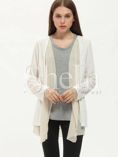 Apricot Long Sleeve Loose Knit Coat