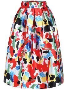 Florals Flare Multicolor Skirt