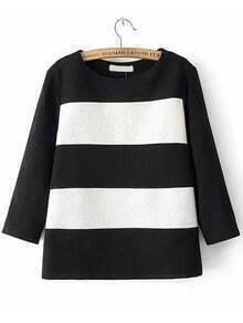 Color-block Striped Jacquard Sweatshirt