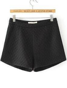 Black Diamond Pattern Shorts