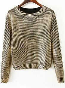Black Round Neck Vintage Crop Sweater