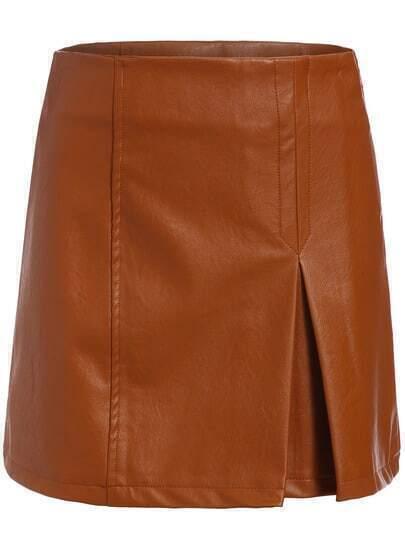 Khaki Slim Split Bodycon Skirt