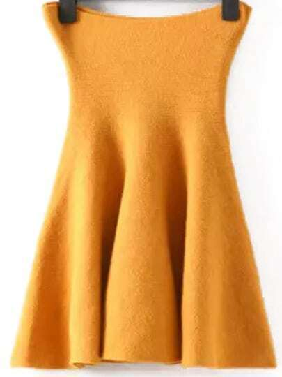 Yellow Ruffle A Line Skirt