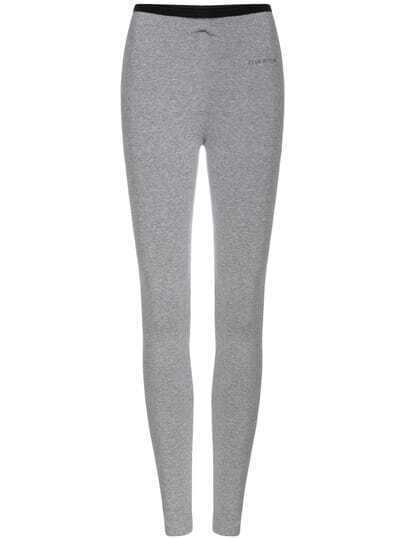 Grey Slim Casual Leggings
