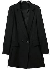 Black Notch Lapel Double Breasted Blazer Jumpsuit