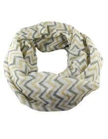 Latest Design Yellow Voile Knitted Stripes Printed Fashionable Scarf