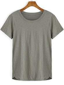 Army Green Round Neck Loose T-Shirt