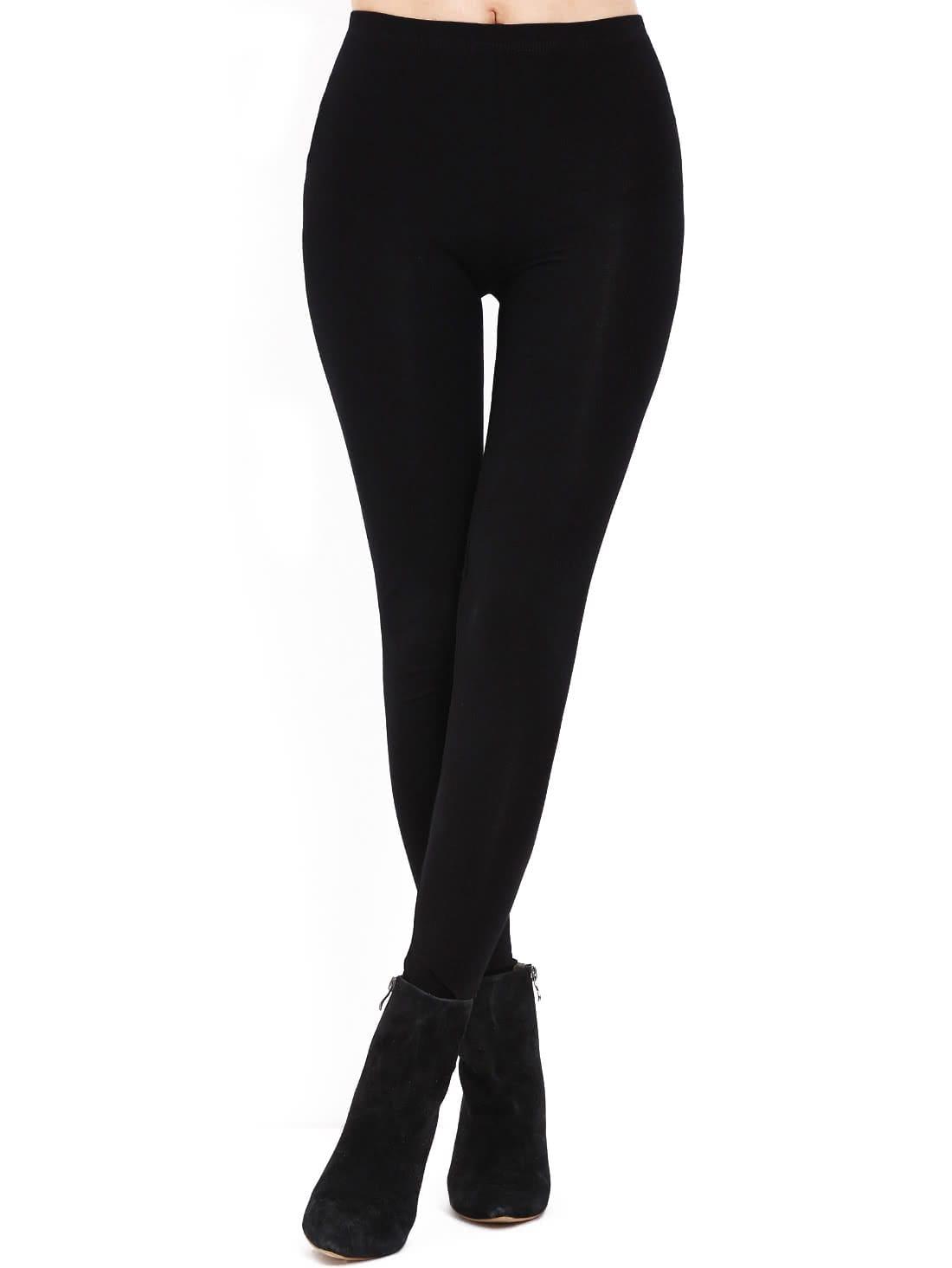 Black Slim Elastic Leggings