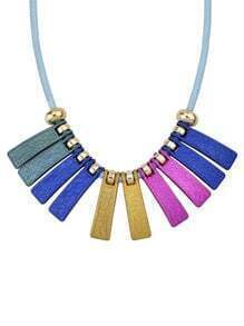Fashionable Style Beautiful Colorful Long Spike Statement Collar Necklace