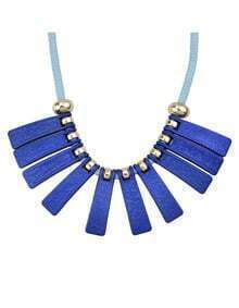 Fashionable Style Beautiful Blue Long Spike Statement Collar Necklace