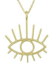 Punk Style Gold Alloy Eye Neckalce