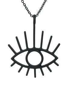 Punk Style Black Alloy Eye Neckalce