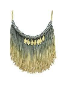 Tribe Style Long Tassel Chains Necklace