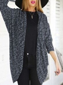 Grey Bat Sleeve Loose Coat
