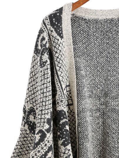 cardigan plaid avec franges noir gris french shein. Black Bedroom Furniture Sets. Home Design Ideas