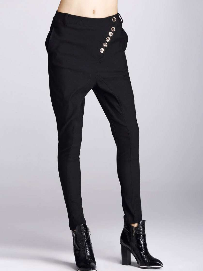 Black Single Breasted Pant