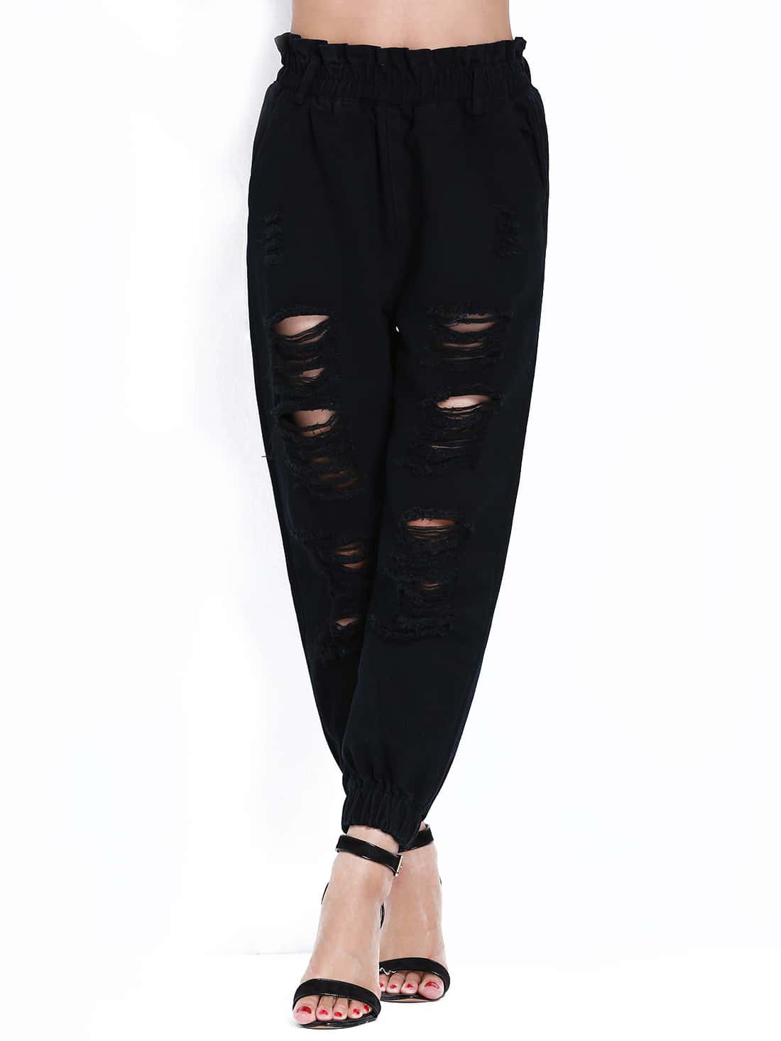 Find elastic waist black pants at ShopStyle. Shop the latest collection of elastic waist black pants from the most popular stores - all in one place.