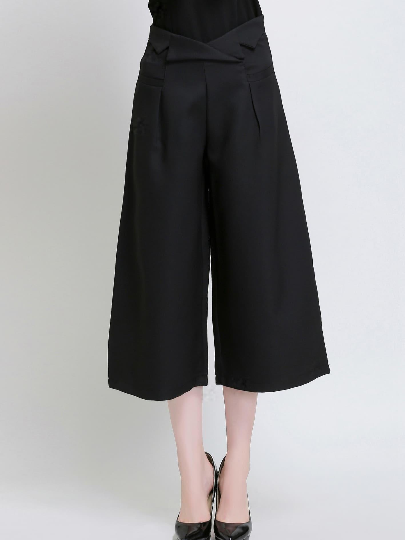 Black High Waist Wide Leg Pant