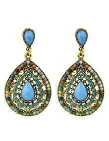 Beads Colorful Fashion Design Hanging Earrings