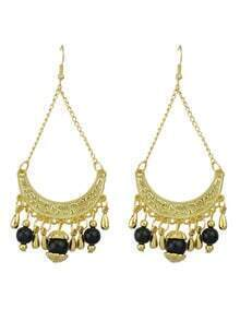 Hollow Out Black Ladies Earrings