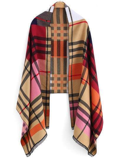 Multicolor Plaid Casual Scarve