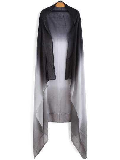 Black Grey Ombre Vintage Scarve