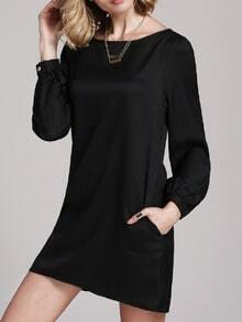 Black Lbd Long Sleeve Casual Dress