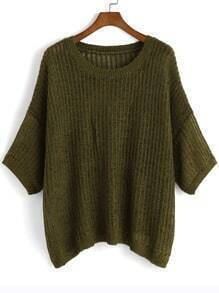 Jersey manga media suelto -verde