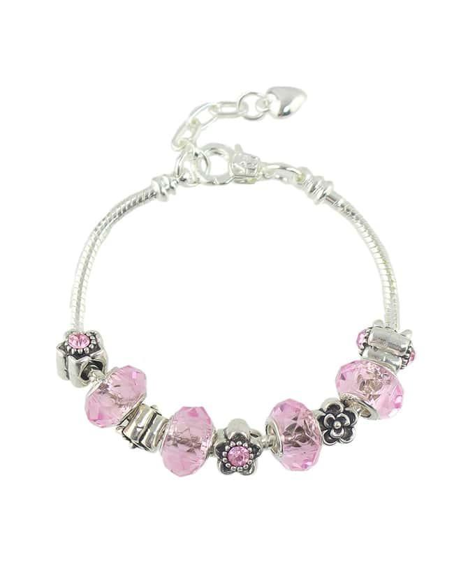 Bohemian Style Pink Beads Bracelet for Women