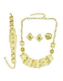 Rhinestone Statement Jewelry Set