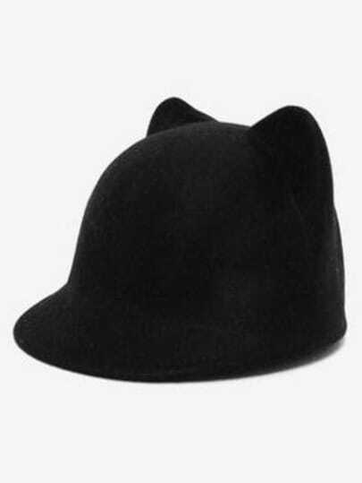 Black Cat Ears Hat