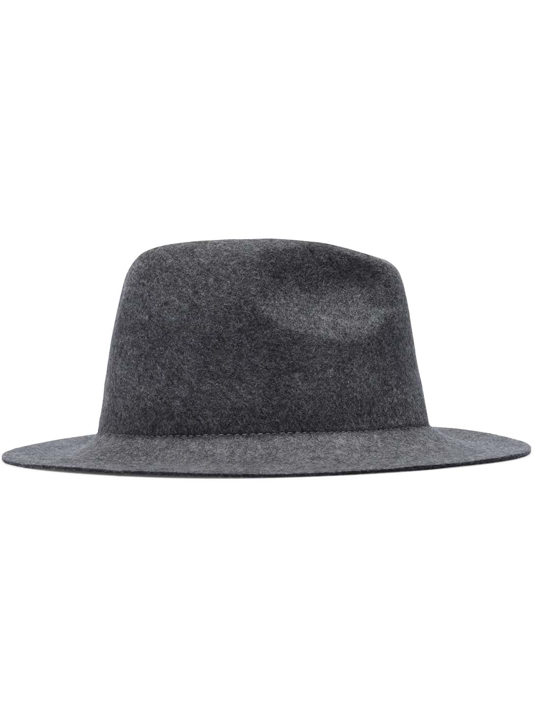 Grey Casual Round Oversize Hat