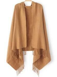 Camel Tassel Vintage Scarve