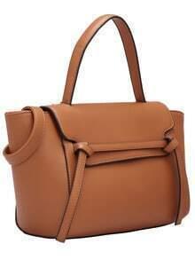 Brown Tie PU Bag