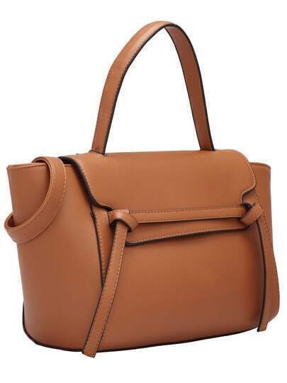 Brown Tie PU Bag