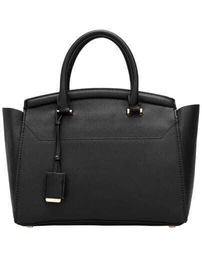Black Fashion PU Tote Bag