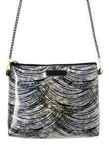 Multicolor Brush Chain Shoulder Bag