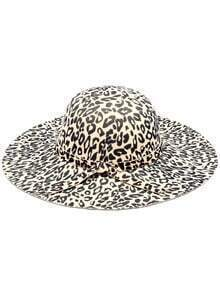Black Apricot Leopard Print Bow Hat
