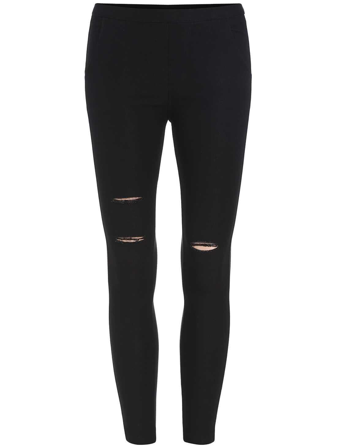 Black Skinny Cut-out Leggings