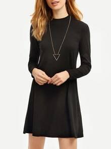 Navy Long Sleeve Designer Casual Dress