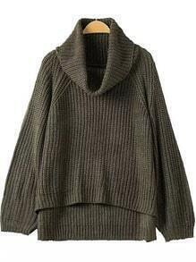 Turtleneck Dip Hem Sweater