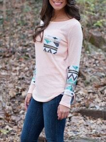 Long Sleeve Sequined Pocket T-shirt