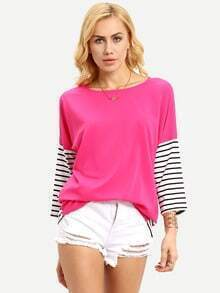 Long Sleeve Striped Loose T-shirt
