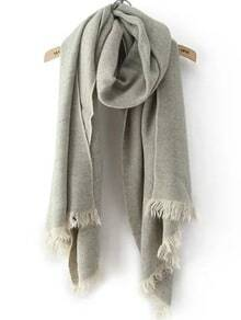 Frayed Grey Scarf