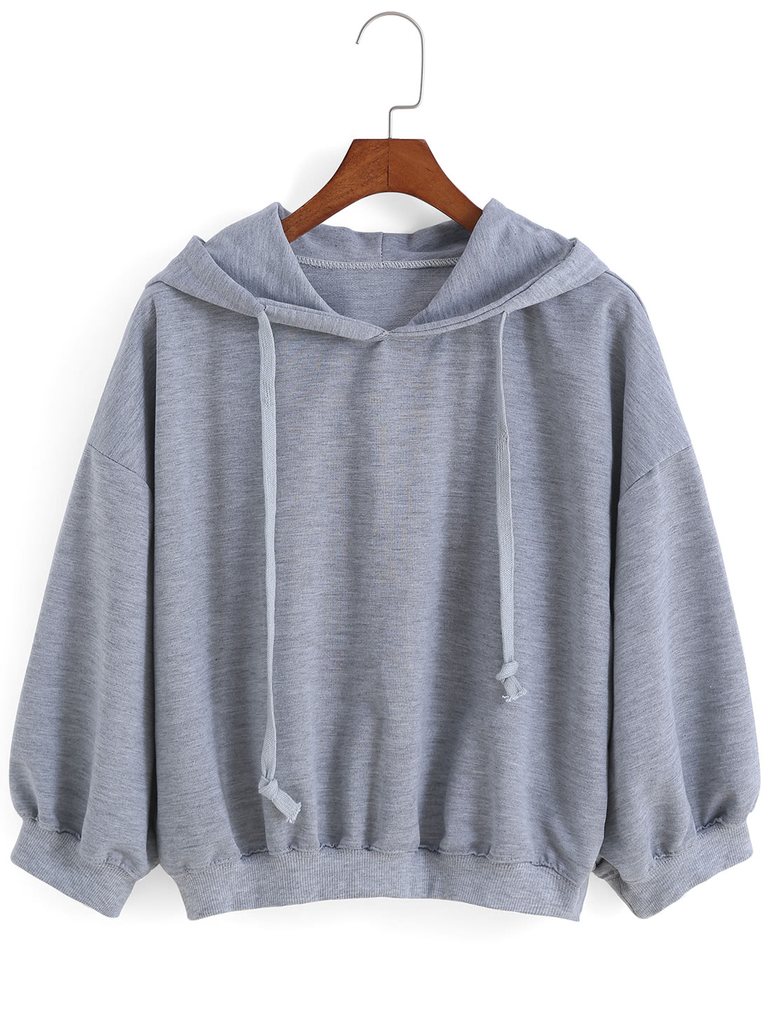 Hooded Drawstring Loose Sweatshirt RSWS150822056