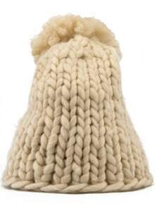 Apricot Casual Chunky Knit Hat