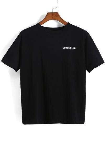 Aircraft Print Loose T-shirt