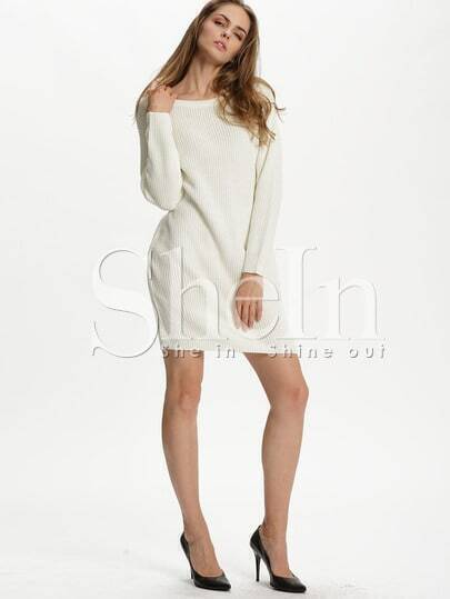 White Long Sleeve Designer Bodycon Dress