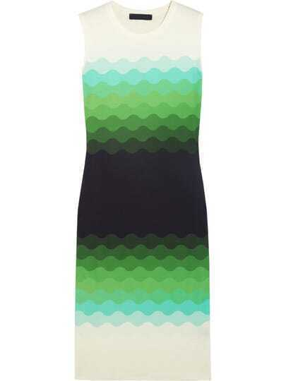 Multicolor Round Neck Sleeveless Knit Dress