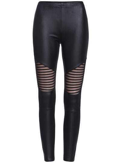 Black Skinny Sheer Mesh Leggings